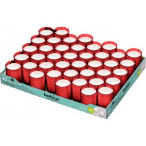 Bolsius Horeca clear cups 55/42 tray 40 Rood