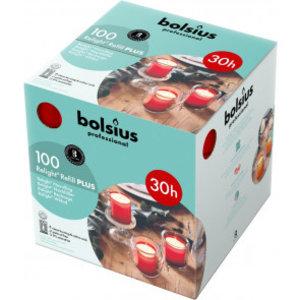 Bolsius Horeca relight XL navullingen 64/52 doos 100  Rood