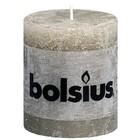 Bolsius kaarsen Stompkaarsen 80/68 mm kiezelgrijs