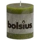Bolsius kaarsen Stompkaarsen 80/68 mm olijfgroen