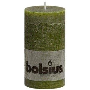 Bolsius Rustieke stompkaarsen 130/68 mm olijfgroen