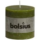 Bolsius Stompkaarsen 100/100 mm olijfgroen