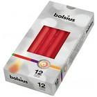 Bolsius Gotische kaarsen rood 12 stuks 245/24 mm
