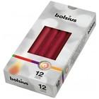 Bolsius Gotische kaarsen wijnrood 12 stuks 245/24 mm