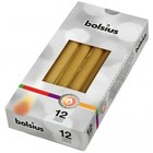 Bolsius Gotische kaarsen goud 12 stuks 245/24 mm
