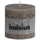 Bolsius Stompkaarsen 100/100 mm taupe