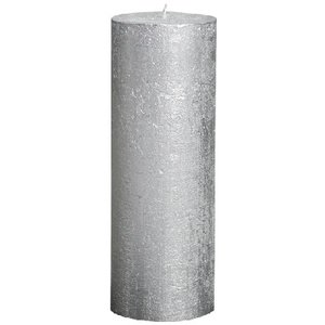 Bolsius Grote Stompkaars 190/68 metallic zilver