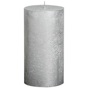 Bolsius kaarsen Grote Stompkaars 130/68 metallic zilver