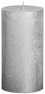 Onwijs Bolsius Grote Stompkaars 130/68 metallic zilver - Kaarsen-online SK-54