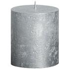 Bolsius kaarsen Stompkaars 80/68 metallic zilver