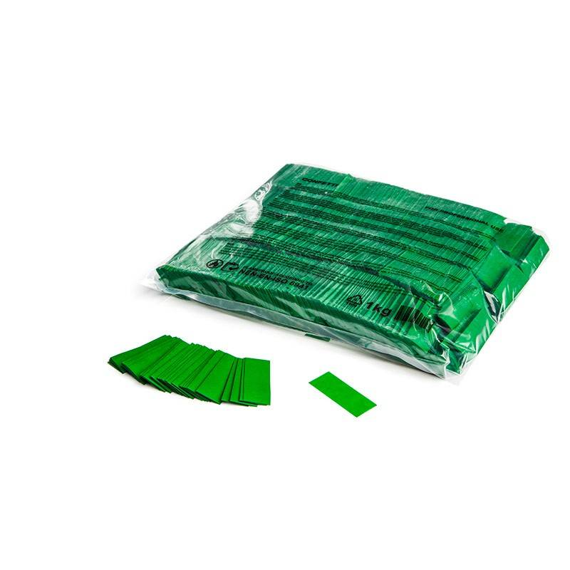 Magic FX Slowfall confetti 55x17 mm - 1kg - Donker Groen