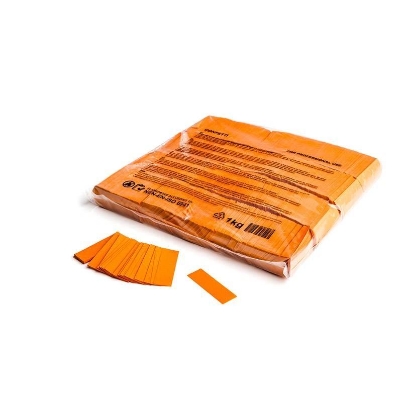Magic FX Slowfall confetti 55x17 mm - 1kg - Oranje