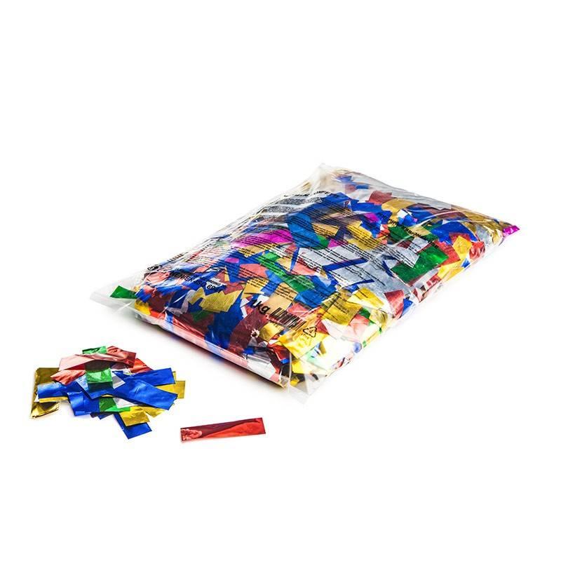 Magic FX Metallic confetti 55x17 mm - 1kg - Multicolour