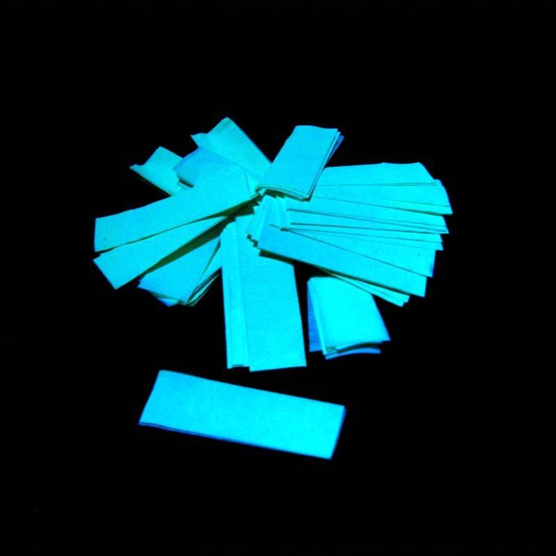 Magic FX Slowfall UV confetti 55x17 mm - 1kg - Fluo Groen