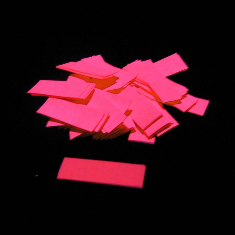 Magic FX Slowfall UV confetti 55x17 mm - 1kg - Fluo Oranje
