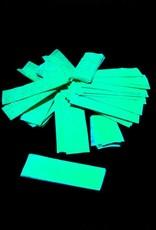 Magic FX Slowfall UV confetti 55x17 mm - 1kg - Fluo Geel