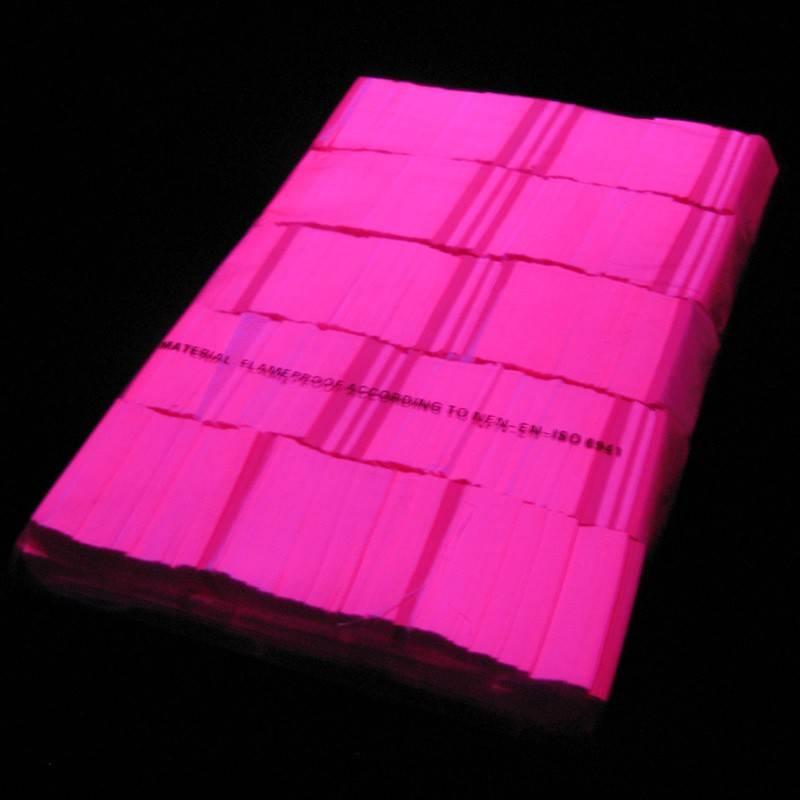 Magic FX Slowfall confetti UV 55x17 mm - 1kg - Rose Fluo