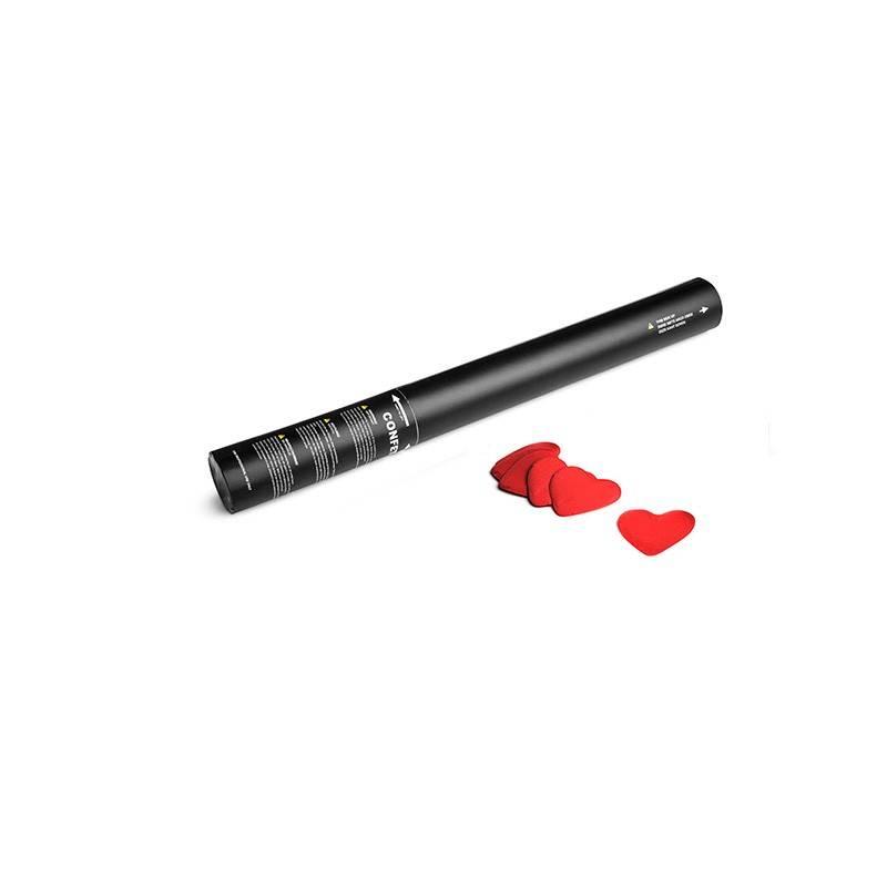 Magic FX Canon à Confetti Coeurs Manuel 50cm - Rouge