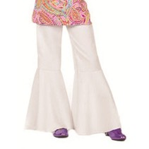 Hippiebroek bi-stretch kind wit