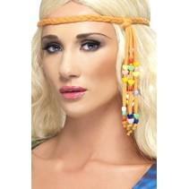 60's hippie kralen hoofdband