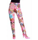 Hippy flower power broek dames