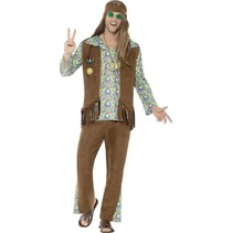 Jaren 60 hippie kostuum man