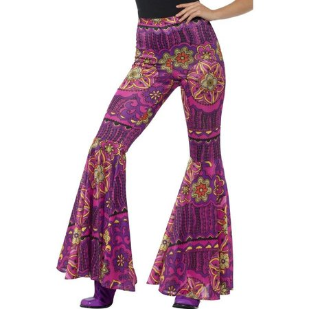 Flower power broek dames Hippie