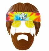 Bril Hippie met baard