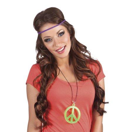 Hippie ketting fluor groen