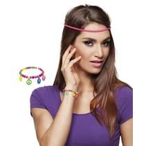 Hippie armbandje neon