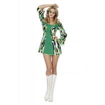 Hippie dameskostuum green