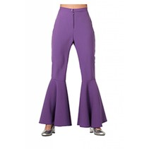 Hippie broek paars dames