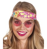 Hippie brilletje roze
