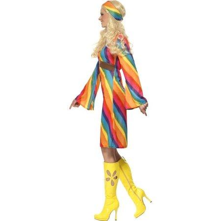 Rainbow hippie kostuum dame
