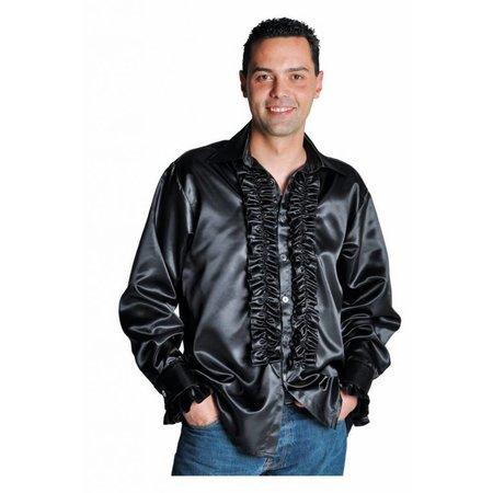 Rouches blouse luxe zwart