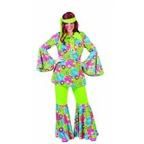 Hippie kostuum vrouw 3-delig Paisley