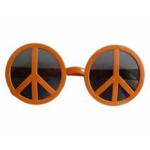 Peace Hippie bril oranje