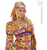 Hippie hoofdband met kraaltjes en veren