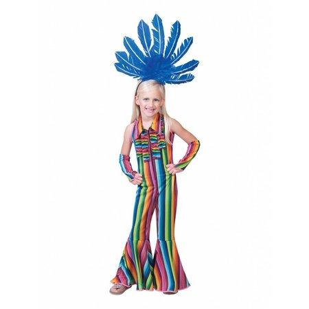 Hippie Jumpsuit Meisje Kostuum