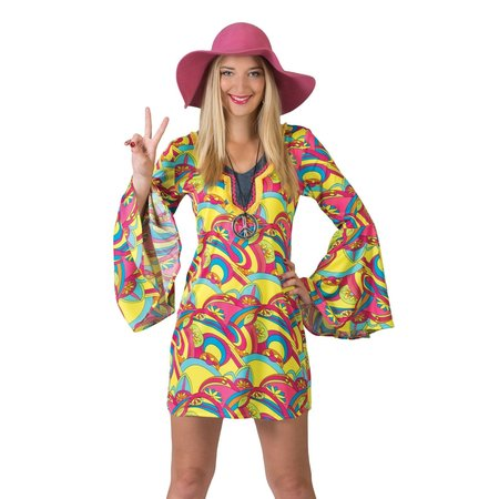Hippie Jurk Groovy Kort Hannah