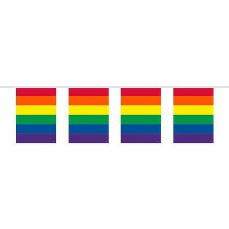 Vlaggenlijn Regenboog Vierkant - 10 meter
