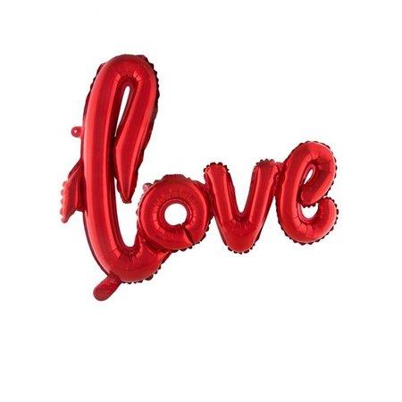 Folieballon Love Rood - 100x68cm