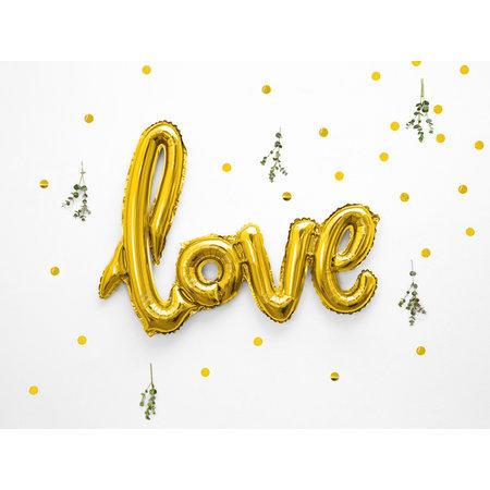 Folieballon Love Goud - 73 x 59cm