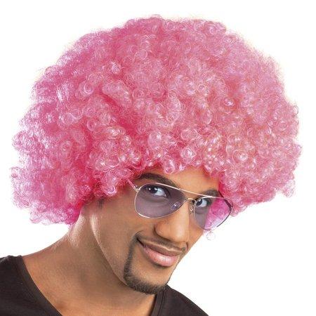 Pruik Afro roze Iggy