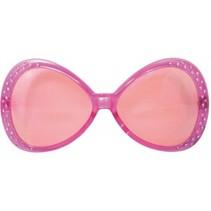 Feestbril roze Carlijne