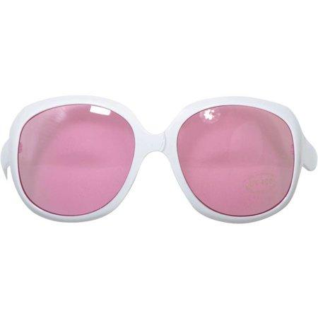Feestbril roze/wit
