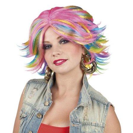 Pruik Jillian multi colour