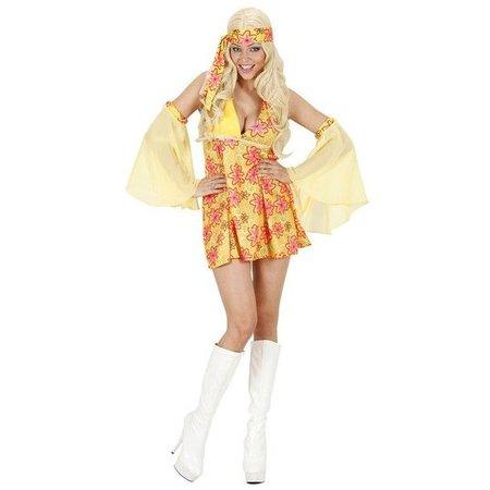 70's kostuum meisje geel