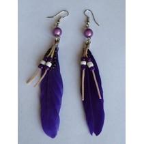 oorbellen indian paars