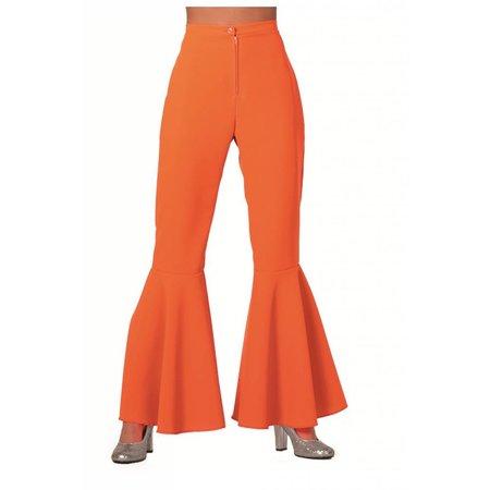 Hippiebroek oranje vrouw
